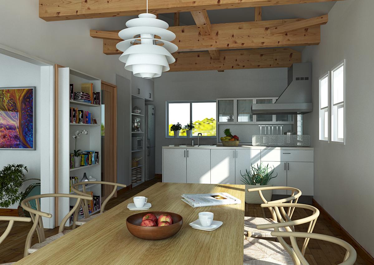 土地付一戸建て自然素材住宅
